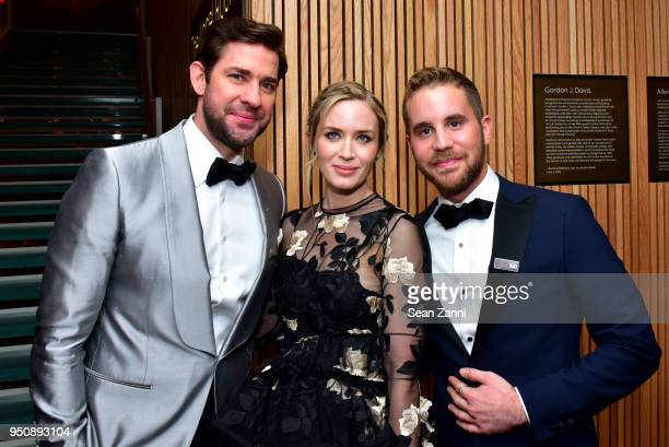 John Krasinski Emily Blunt and Ben Platt attend the 2018 TIME 100 Gala at Jazz at Lincoln Center on April 24 2018 in New York City