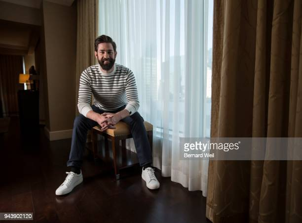 TORONTO ON MARCH 20 John Krasinski whose new horror film A QUIET PLACE stars him and wife Emily Blunt as parents of a rural American family...