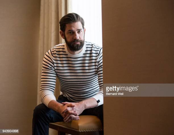 TORONTO ON DECEMBER 31 John Krasinski whose new horror film A QUIET PLACE stars him and wife Emily Blunt as parents of a rural American family...