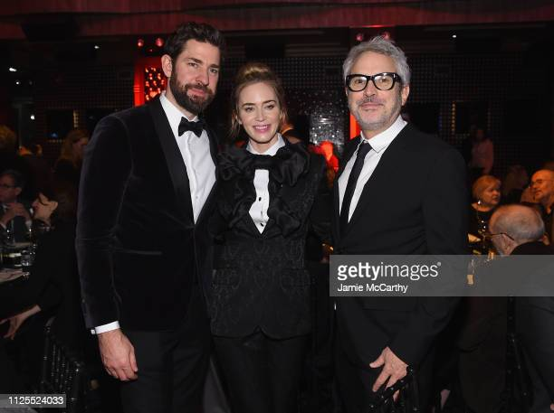 John Kraskinski Emily Blunt and Alfonso Cuaron attend the 71st Annual Writers Guild Awards New York ceremony at Edison Ballroom on February 17 2019...