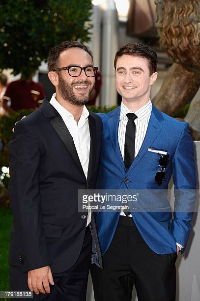 John Krokidas and Daniel Radcliffe attend 'Kill Your Darlings' Premiere during the 70th Venice International Film Festival at Palazzo Del Cinema on...