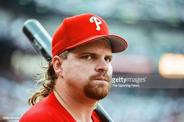John Kruk of the Philadelphia Phillies during the 1993 AllStar Game on July 13 1993 at Oriole Park at Camden Yards in Baltimore Maryland