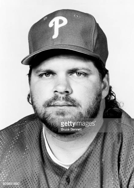 John Kruk of the Philadelphia Phillies poses for a portrait during Spring Training circa March 1993 in Clearwater Florida