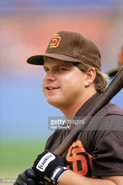 John Kruk of the San Diego Padres prepares to bat during the 1986 season