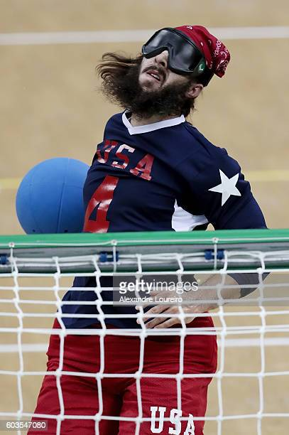 John Kusku of United States in action during Goalball - Men's Preliminary - Group B match between United States and Turkey at Future Arena on day 5...