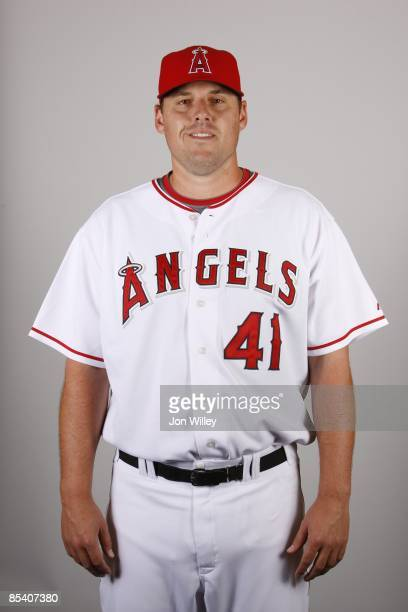 John Lackey of the Los Angeles Angels of Anaheim poses during Photo Day on Wednesday February 25 2009 at Tempe Diablo Stadium in Tempe Arizona