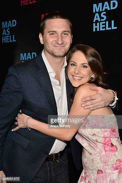 John Ladoral and Ana Kasparian attend the The Young Turks Documentary Mad as Hell Los Angeles Premiere at Harmony Gold Theatre on November 6 2014 in...