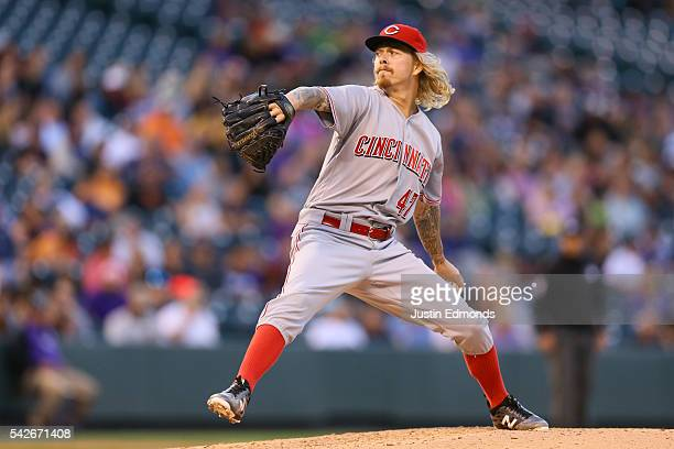 John Lamb of the Cincinnati Reds pitches against the Colorado Rockies at Coors Field on June 1 2016 in Denver Colorado
