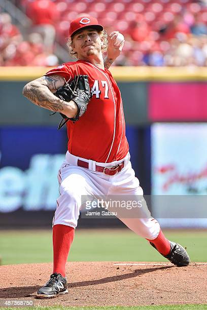 John Lamb of the Cincinnati Reds pitches against the Milwaukee Brewers at Great American Ball Park on September 5 2015 in Cincinnati Ohio