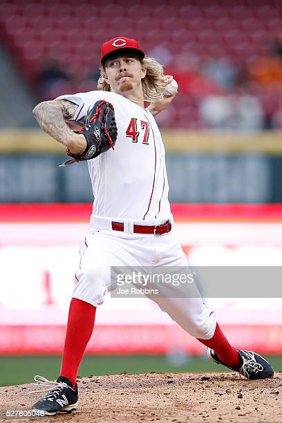 John Lamb of the Cincinnati Reds pitches against the San Francisco Giants in the second inning of the game at Great American Ball Park on May 3 2016...