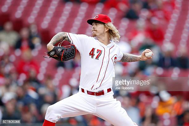 John Lamb of the Cincinnati Reds pitches against the San Francisco Giants in the first inning of the game at Great American Ball Park on May 3 2016...