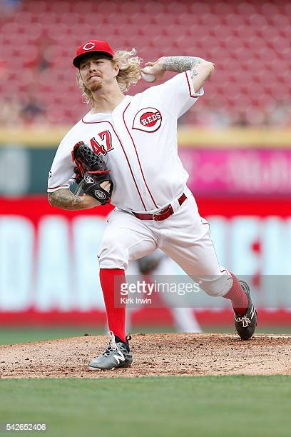 John Lamb of the Cincinnati Reds throws a pitch during the top of the second inning of the game against the San Diego Padres at Great American Ball...