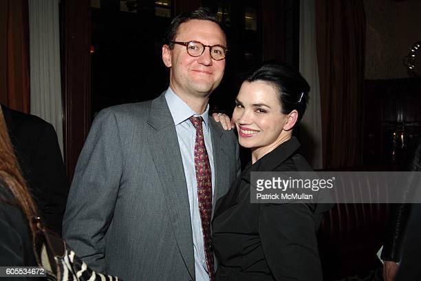 John Lambros and Karen Duffy attend THE GOOD LIFE a Novel by Jay McInerney Book Party hosted by Anne Hearst at 21 Club on January 31 2006 in New York...