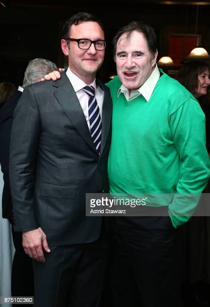 John Lambros and Richard Kind attend Backbone By Karen Duff Duffy Book Launch Party at The Society Of Ilustrators on November 16 2017 in New York City