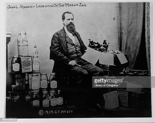 John Landis Mason patented the screwtop Mason jar in 1858