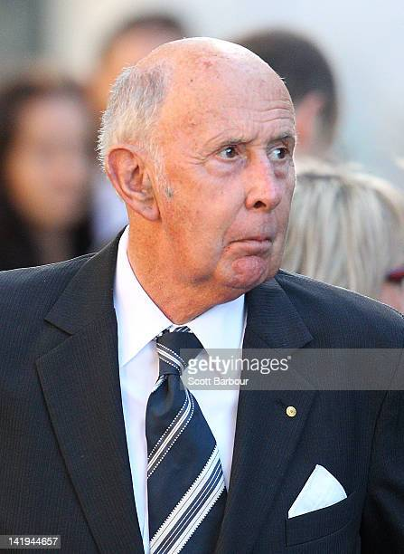 John Landy arrives to attend during the State Funeral held for former AFL player Jim Stynes at St Paul's Cathedral on March 27 2012 in Melbourne...
