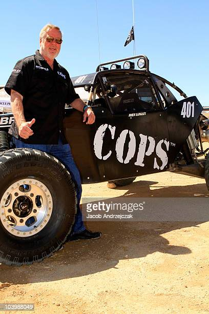 John Langley prepares for a race in honor of the 800th episode of COPS on September 10 2010 in Primm Nevada