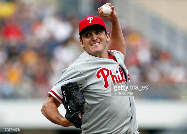 John Lannan of the Philadelphia Phillies pitches in the first inning against the Pittsburgh Pirates during the game on July 3 2013 at PNC Park in...