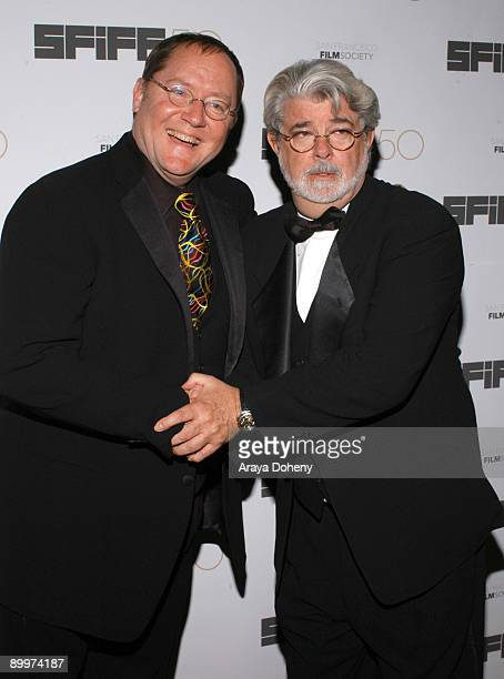 John Lasseter and George Lucas Recipient of the Irving M Levin Award