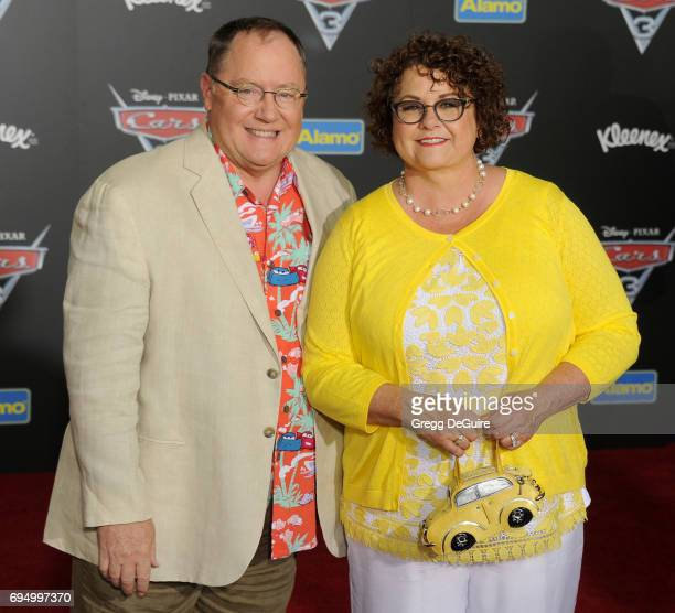 John Lasseter and Nancy Lasseter arrive at the premiere of Disney And Pixar's 'Cars 3' at Anaheim Convention Center on June 10 2017 in Anaheim...