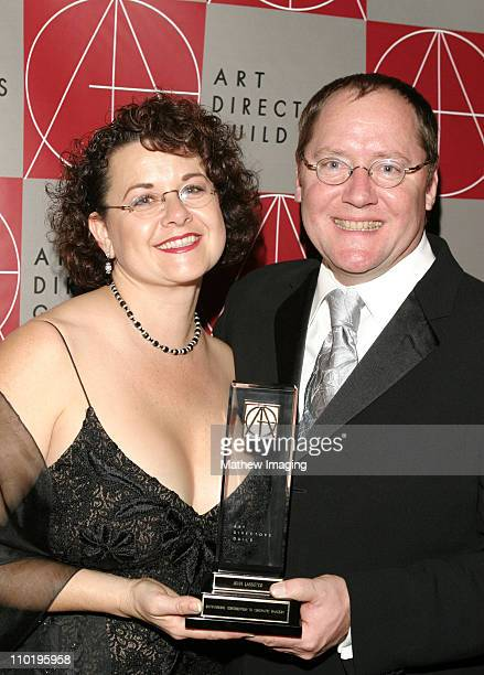 John Lasseter and wife Nancy during 8th Annual Art Directors Guild Awards Show at The Beverly Hiton Hotel in Beverly Hills California United States
