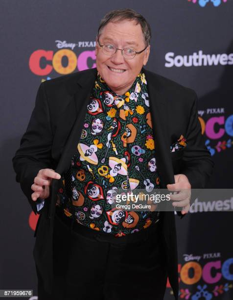 John Lasseter arrives at the premiere of Disney Pixar's Coco at El Capitan Theatre on November 8 2017 in Los Angeles California