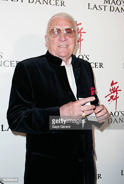 John Laws arrives for the premiere of 'Mao' Last Dancer' at the State Theatre on September 21 2009 in Sydney Australia