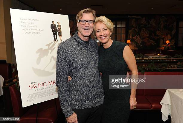 John Lee Hancock and Emma Thompson host a cocktail reception and special screening of 'Saving Mr Banks' on December 11 2013 in New York City