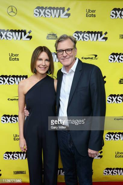 John Lee Hancock and Holly Hancock attend the premiere of 'The Highwaymen' at the Paramount Theatre during the 2019 SXSW Conference And Festival on...
