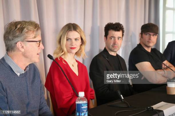 John Lee Hancock Brooklyn Decker Ron Livingston and Robert Rodriguez attend the 2019 Texas Film Awards Press Conference at The LINE Austin on March 7...
