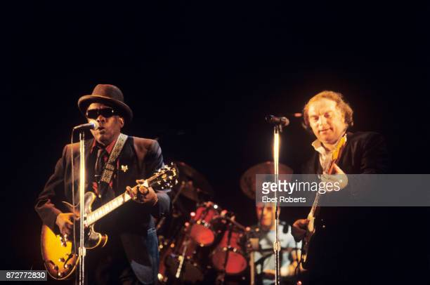 John Lee Hooker and Van Morrison performing at the Beacon Theatre in New York City on November 29 1989