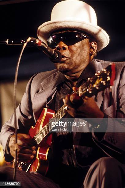 John Lee Hooker performing at The Shoreline Ampliatheater in Mountain View California on October 10 1992