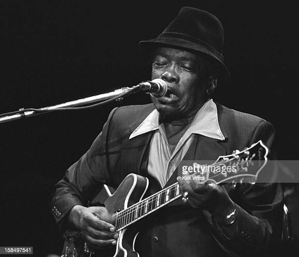 John Lee Hooker performs at the Chicago Blues Fest Chicago Illinois June 10 1990