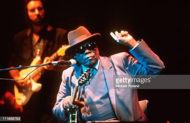 John Lee Hooker performs on stage London circa 1996