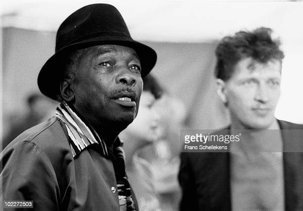 John Lee Hooker posed backstage with Herman Brood at the North Sea Jazz Festival in The Hague Netherlands on July 10 1983