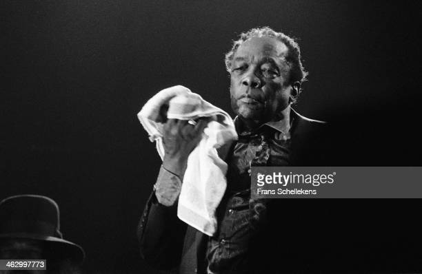 John Lee Hooker vocal performs at the North Sea Jazz Festival in the Hague the Netherlands on 15 July 1990