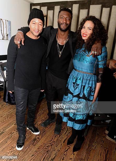 John Legend Aldis Hodge and Jurnee SmollettBell attend WGN America's Underground Season Two Party hosted by John Legend at 2017 Sundance Film...
