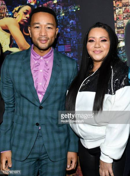 John Legend and Cheryl James attend the Los Angeles Premiere Of HBO's Documentary Film United Skates at Avalon Hollywood on February 06 2019 in Los...