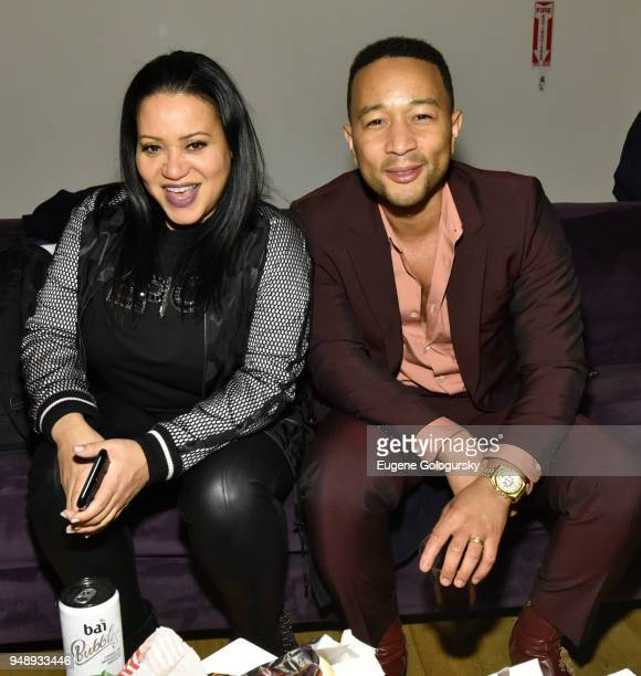 John Legend and Cheryl 'Salt' James attend the Bai Hosts 'United Skates' Documentary AfterParty At Tribeca Film Festival On April 19th at...