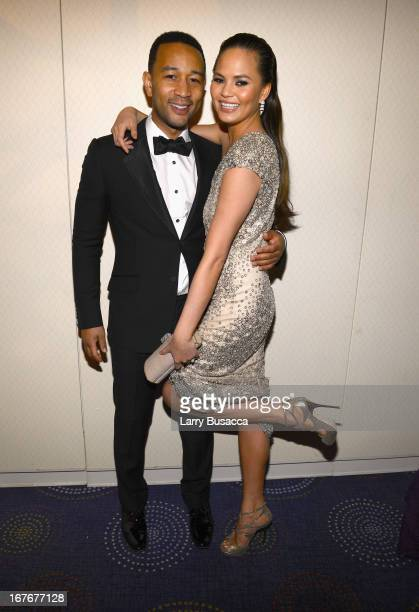 John Legend and Chrissy Teigen attend the TIME/CNN/PEOPLE/FORTUNE PreDinner Cocktail Reception at Washington Hilton on April 27 2013 in Washington DC
