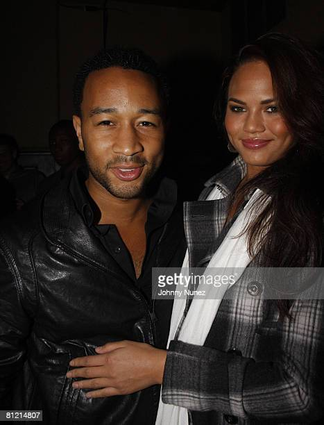 John Legend and Christine Teigen attend Vaughn Anthony's Birthday Bash Hosted by John Legend on May 22 2008 in New York City