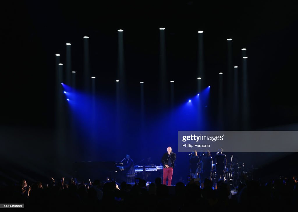 John Legend (L) and Common perform onstage during The Art of Elysium presents John Legend's HEAVEN at Barker Hangar on January 6, 2018 in Santa Monica, California.
