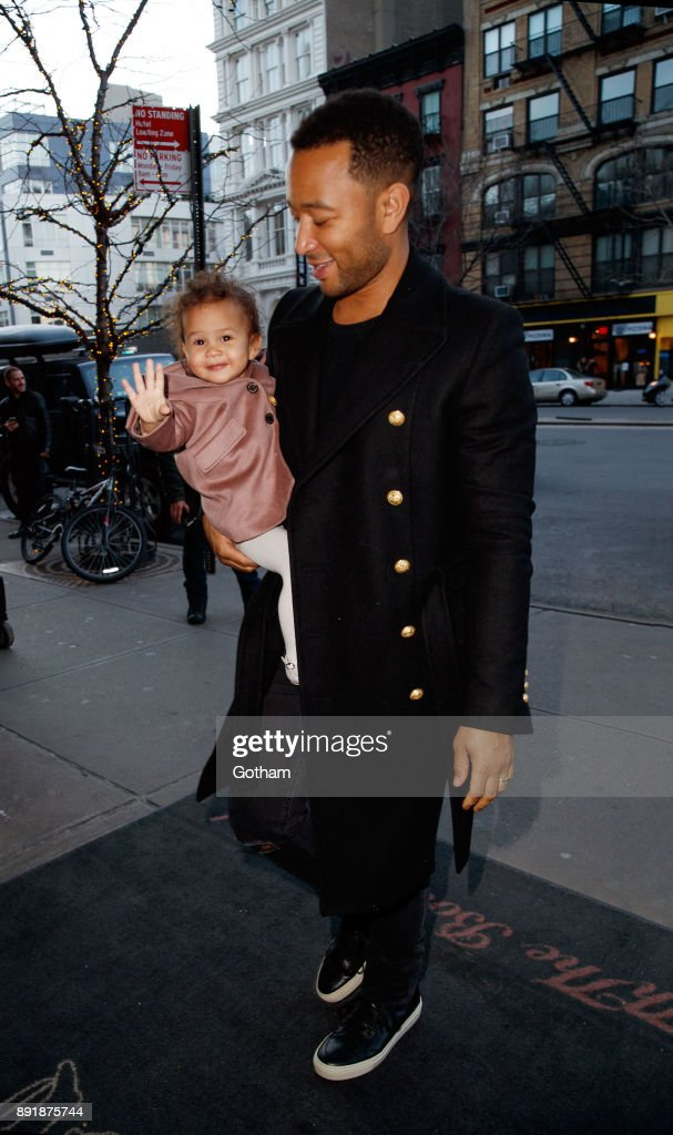 Celebrity Sightings in New York City - December 13, 2017