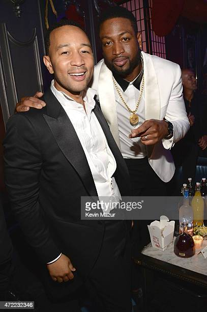 John Legend and Dwyane Wade attend Rihanna's private Met Gala after party at Up Down on May 4 2015 in New York City