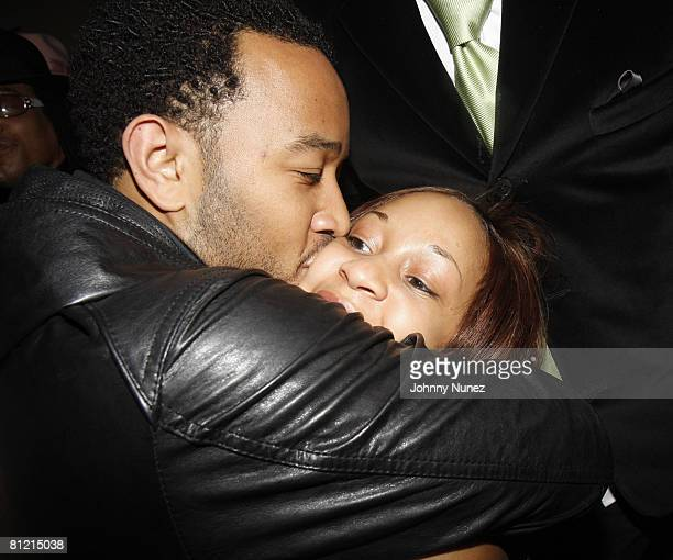 John Legend and His Sister attend Vaughn Anthony's Birthday Bash Hosted by John Legend on May 22 2008 in New York City