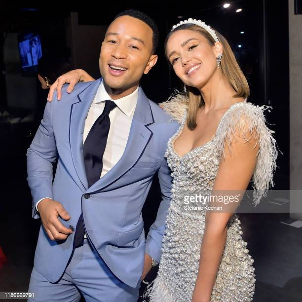 John Legend and Jessica Alba attend the 2019 Baby2Baby Gala presented by Paul Mitchell on November 09, 2019 in Los Angeles, California.