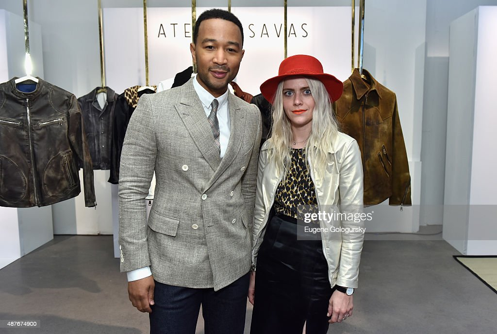 John Legend and Savannah Yarborough attend as AXE and Esquire present the AXE White Label Collective during the opening night of New York Fashion Week on September 10, 2015 at Pop14 in New York City.