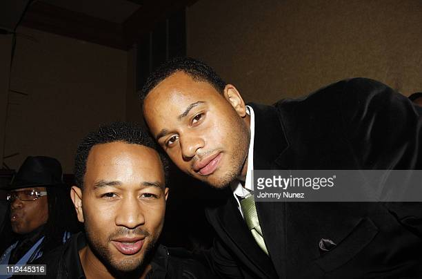 John Legend and Vaughn Anthony attend Vaughn Anthony's Birthday Bash Hosted by John Legend on May 22 2008 in New York City