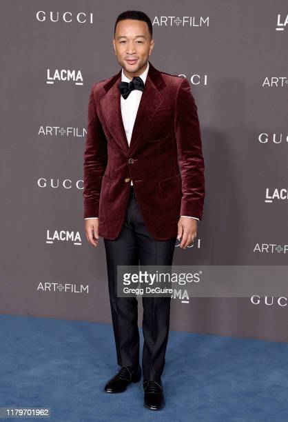John Legend arrives at the 2019 LACMA Art Film Gala Presented By Gucci on November 2 2019 in Los Angeles California
