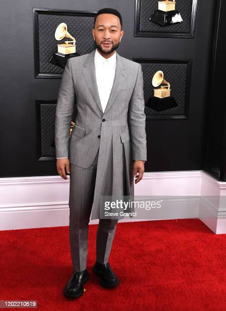 John Legend arrives at the 62nd Annual GRAMMY Awards at Staples Center on January 26, 2020 in Los Angeles, California.